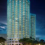 Fairmont Singapore's Night Facade