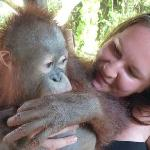 My wife and the orangutan