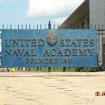 Naval Academy  entry near the marina