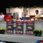 Judges sampling the Pie Baking Championship finalists.