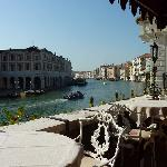 View up the Grand Canal from the breakfast patio