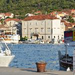 view of Villa Moretti from Trogir