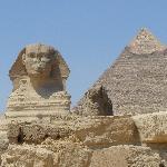 Sphinx and Pyramids at Giza