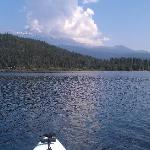 Shasta from kayak on Lake Siskiyou