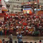 Just before the Ganga Aarti