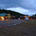 Glacier General Store & Cabins at dusk