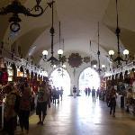 cloth market in the centre of the square