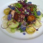 the Octopus Salad....a delicious plateful of color