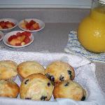 De-lish Inn-baked blueberry muffins