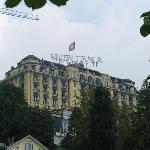 Hotel Montana from Lake Luzern