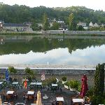 View from hotel overlooking the river Meuse