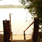 Steps leading down to private jetty