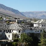 View of the old city of Gjirokaster
