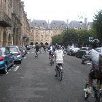Biking around the elite part of Paris