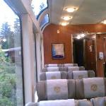 inside gold dome car