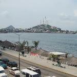 vista del hotel hacia la playa