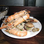 "Decomposing Langoustines/Inedible Rubbery ""butter"" clams"