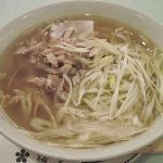 朝食のスープ麺
