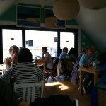 Breakfast @ Godrevy (upstairs overlooking beach). You can sit outside too
