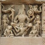 Harshat Mata Temple- beautiful figurines reminds of ancient indian architecture