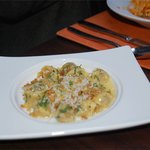 SHort rib filled Agnolotti - little puffs of creaminess.