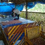 the local Thai massage on the beach, it's more comfortable then it looks!