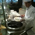 soup cart  in morning buffet
