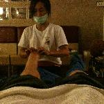 foot massage in the hood