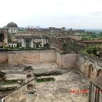 Old amalgamates with new....the view of Bidar city from the fort top.