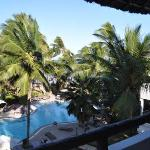 View from Balcony of L32, over the quiet Pool out to the India Ocean