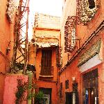 The alley leading to the Riad