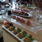 Sharing food at Sushi Tora