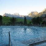 Early morning swim.