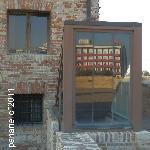 Il Senbhotel visto dai torrioni della Rocca Roveresca