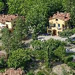 villa le Macine and Poggio d'Oro from above