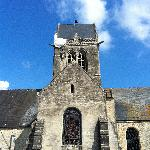 Church where a parachutist got stuck in St. Marie Eglise