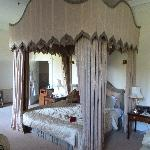 One of the four poster beds