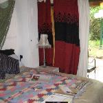 bed and entrance patio door in #4