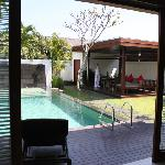 Pool and lounging area