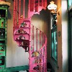 Staircase inside Honeydukes