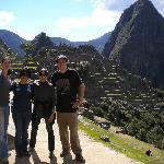 With some new friends met through a Peru For Less Trip; At Machu Picchu