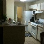 Kitchen in rental unit.