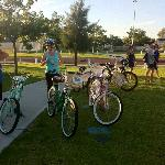 Cylcle round the bay bikes, so comfortable and how cool do they look. We loved them.