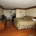 Beautiful wood floors, well appointed bedroom
