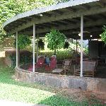 Porch with fun family activities