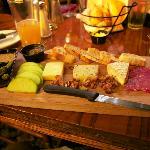 Artisan cheese and salami board