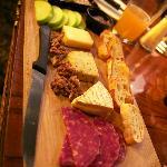 Artisan cheese & salami board