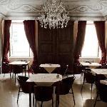 La Sala per le colazioni e i ricevimenti dell' hotel Dimora Antica di Sarzana