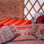 Inside the Bentwood Yurt