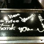 Thank you message from Chef Ichiban